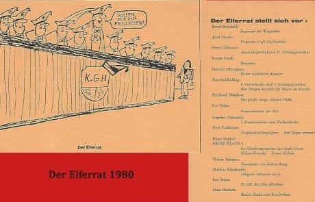 Der Elferrat 1980