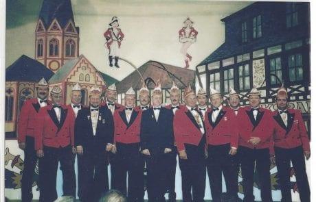 Der Elferrat im Winzerverein Session 2000/2001
